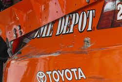 Crash Joey Logano, Joe Gibbs Racing Toyota