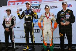 Podium: race winner Connor De Phillippi, second place Martin Scuncio, third place Tristan Vautier