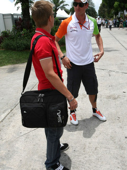 Heikki Kovalainen, Team Lotus en Adrian Sutil, Force India