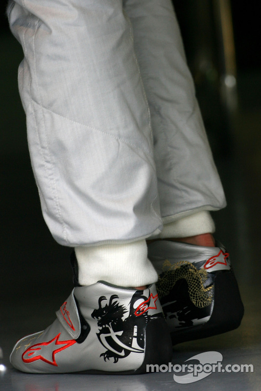 568845316e6 Racing shoes of Michael Schumacher, Mercedes GP at Malaysian GP