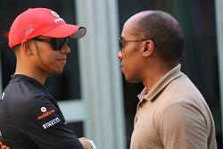 Lewis Hamilton, McLaren Mercedes et Anthony Hamilton, son père