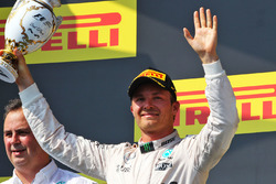 Podium: second place Nico Rosberg, Mercedes AMG F1 Team