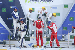 Podium LM GTE Am: first place Paul Dalla Lana, Pedro Lamy, Mathias Lauda, Aston Martin Racing, second place Christian Ried, Wolf Henzler, Joël Camathias, KCMG, third place Francois Perrodo, Emmanuel Collard, Rui Aguas, AF Corse