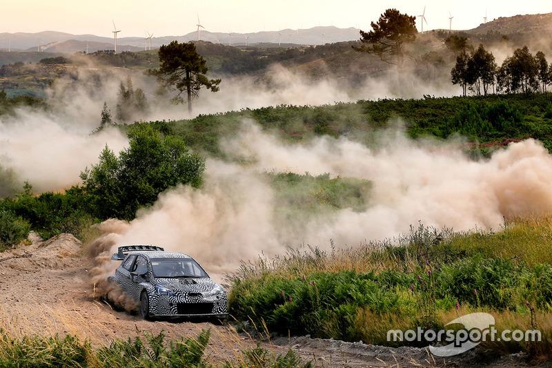 Тести Toyota Yaris WRC 2017