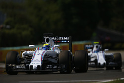Felipe Massa, Williams FW38 and Valtteri Bottas, Williams FW38