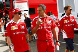 Kimi Raikkonen, Ferrari with Diego Ioverno, Ferrari Operations Director