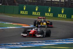 Oliver Rowland, MP Motorsport y Antonio Giovinazzi, PREMA Racing