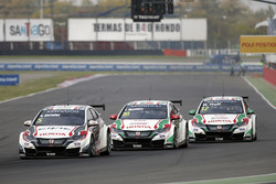 Norbert Michelisz, Honda Racing Team JAS, Honda Civic WTCC, Tiago Monteiro, Honda Racing Team JAS, Honda Civic WTCC, Rob Huff, Honda Racing Team JAS, Honda Civic WTCCen calificación de MAC3