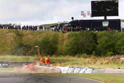 Crash, Ashley Sutton, MG Racing RCIB Insurance