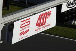 Celebraciones de la carrera 400 de MotoGP