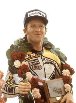 Le vainqueur Kenny Roberts, Yamaha