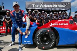 Le poleman Mikhail Aleshin, Schmidt Peterson Motorsports Honda