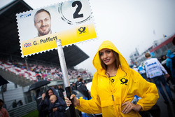 Grid girl of Gary Paffett, Mercedes-AMG Team ART, Mercedes-AMG C63 DTM