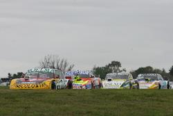 Nicolas Bonelli, Bonelli Competicion Ford, Jonatan Castellano, Castellano Power Team Dodge, Omar Martinez, Martinez Competicion Ford, Josito Di Palma, Sprint Racing Torino