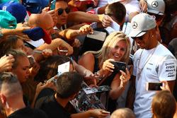 Lewis Hamilton, Mercedes AMG F1 with fans