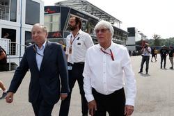 (L to R): Jean Todt, FIA President with Bernie Ecclestone