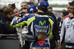 Polesitter Cal Crutchlow, Team LCR Honda, tweede plaats Valentino Rossi, Yamaha Factory Racing