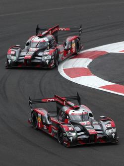 #7 Audi Sport Team Joest, Audi R18: Marcel Fässler, Andre Lotterer; #8 Audi Sport Team Joest, Audi R18 e-tron quattro: Lucas di Grassi, Loic Duval, Oliver Jarvis