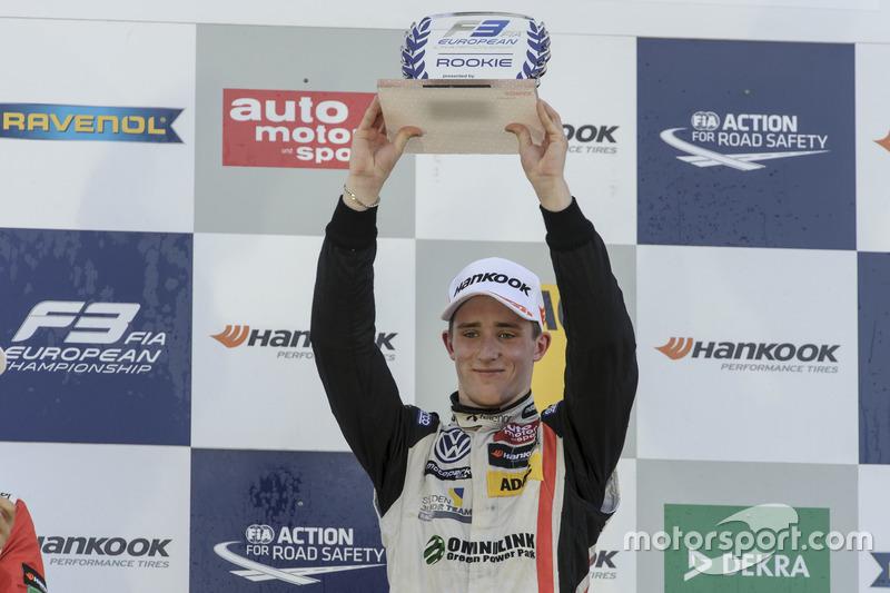 Podio de novatos: Joel Eriksson, Motopark Dallara F312 - Volkswagen