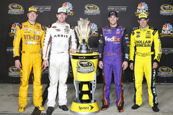 Les pilotes Joe Gibbs Racing dans le Chase, Kyle Busch, Carl Edwards, Denny Hamlin, Matt Kenseth