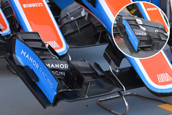 Manor Racing MRT05 front wing detail