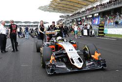 Перед стартом: Серхио Перес, Sahara Force India F1 VJM09