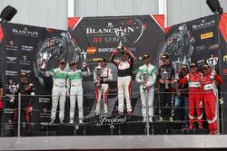 Pro-AM Podium: first place #87 AKKA ASP Mercedes AMG GT3: Jean-Luc Beaubelique, Morgan Moullin-Traffort, second place #333 Rinaldi Racing Ferrari 488 GT3: Norbert Siedler, Rinat Salikhov, third place #458 Rinaldi Racing Ferrari 458 Italia GT3: Christopher Brück, Alezander Matschull