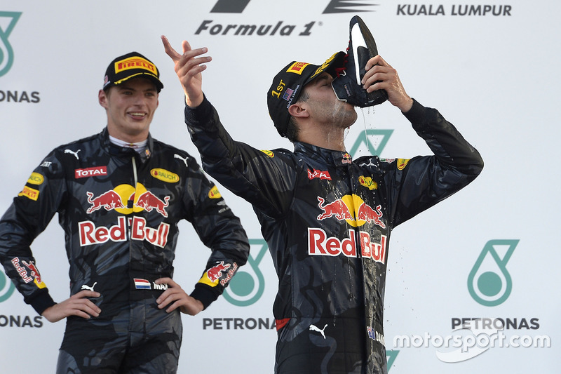 Podium: ganador, Daniel Ricciardo, Red Bull Racing