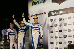 Podium: race winners John Pew, Oswaldo Negri Jr., Olivier Pla, Michael Shank Racing