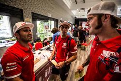 Paulo Goncalves, Honda, Kevin Benavides, Honda, Ricky Brabec, Honda