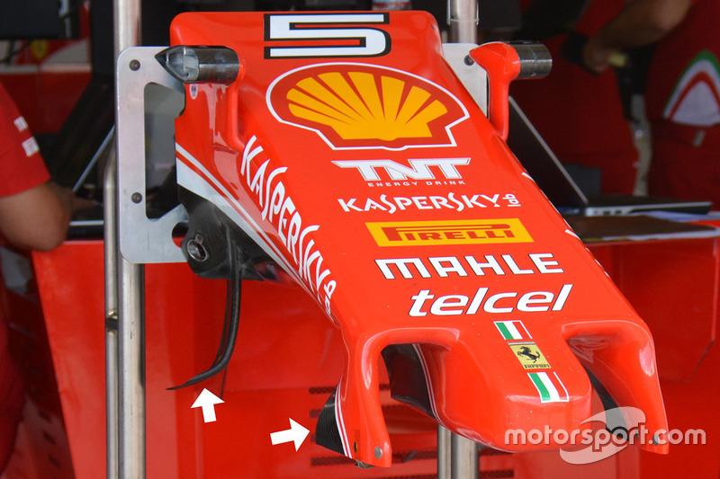 Ferrari SF16-H detalle de la nariz