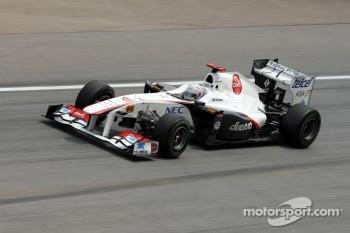 Sauber uses the Ferrari customer engine