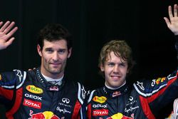 Pole: Kazanan Sebastian Vettel, Red Bull Racing, 3. Mark Webber, Red Bull Racing
