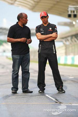 Lewis Hamilton, McLaren Mercedes en vader Anthony Hamilton