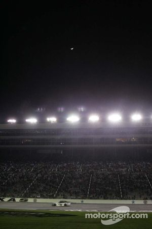 The moon over Texas Motor Speedway