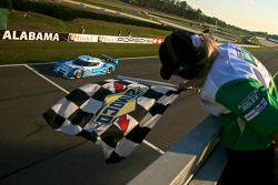 #01 Chip Ganassi Racing with Felix Sabates BMW Riley: Scott Pruett, Memo Rojas takes the checkered f