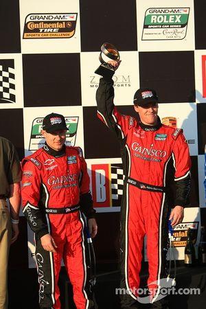 DP podium: second place Jon Fogarty and Alex Gurney