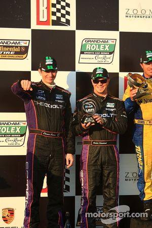 GT podium: second place Oliver Gavin and Gunter Schaldach