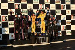 GT podium: class winner Bill Auberlen and Paul Dalla Lana, second place Oliver Gavin and Gunter Scha