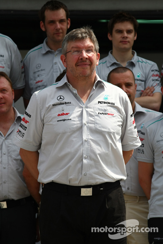 Ross Brawn, director de equipo, Mercedes GP