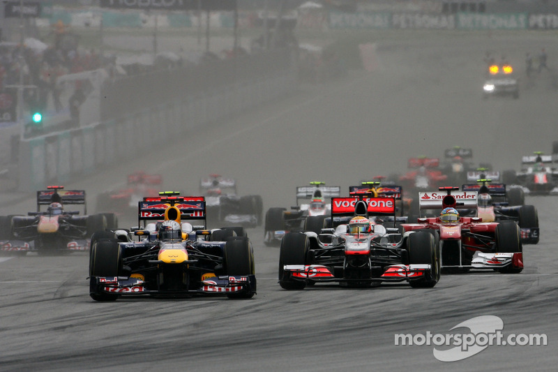 Start, race, Lewis Hamilton, McLaren Mercedes ve Sebastian Vettel, Red Bull Racing
