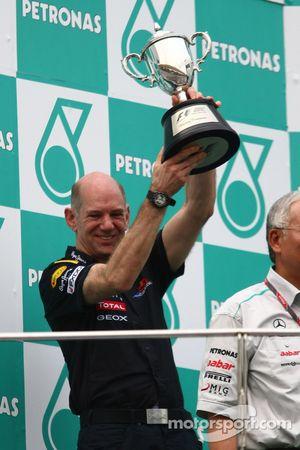 Podium: Adrian Newey, Red Bull Racing, directeur technique