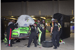 Mark Martin, Hendrick Motorsports Chevrolet gets towed into the garage after being involved in a wreck on the back stretch