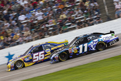 Martin Truex Jr., Michael Waltrip Racing Toyota, Denny Hamlin, Joe Gibbs Racing Toyota