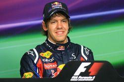 conférence de presse: poleman Sebastian Vettel, Red Bull Racing