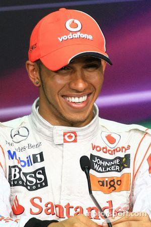 Conférence de presse : Lewis Hamilton (McLaren-Mercedes), deuxième