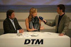 Verena Wriedt en Klaus Lufen - TV at DTM