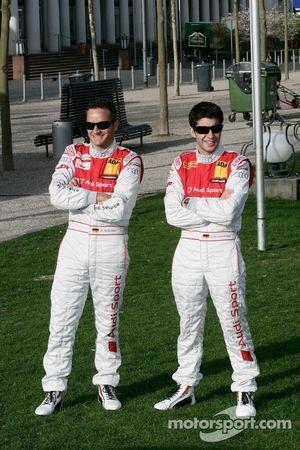 Timo Scheider, Audi Sport Team Abt Audi A4 DTM and Mike Rockenfeller, Audi Sport Team Abt Audi A4 DT