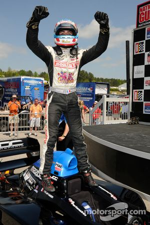 Race winner Tristan Vautier celebrates