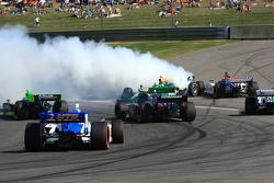 E.J. Viso, KV Racing Technology-Lotus spins